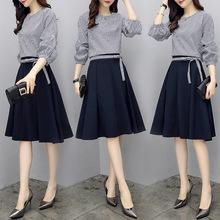 夏装2019新款女装时髦套装女韩版时尚上衣配裙子半身裙气质两件套