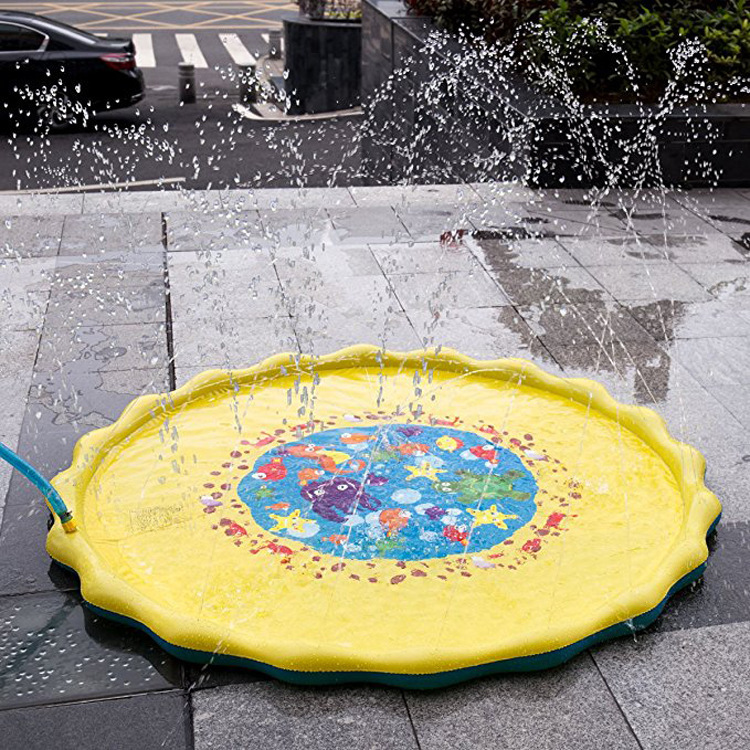 Lawn Water Spray Play Mat Pvc Water Spray Toy Children Water Spray Play Mat