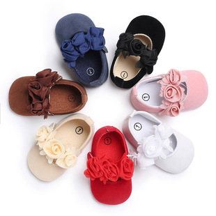 Baby shoes spring and autumn models 0-1 year old female treasure princess shoes small flowers dance shoes soft bottom toddler shoes