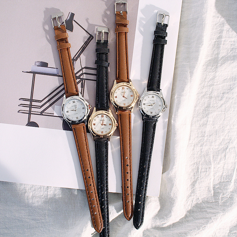 Alloy FashionStudent watch(Black belt with silver frame) NHCN0097-Black belt with silver frame