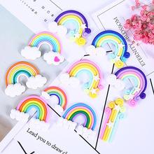 软陶彩虹diy彩虹奶油手机壳配件文具盒史莱姆diy饰品配件