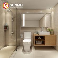 高端定制整體衛浴廠家批發 洗漱臺集成一體化整體衛生間 加工