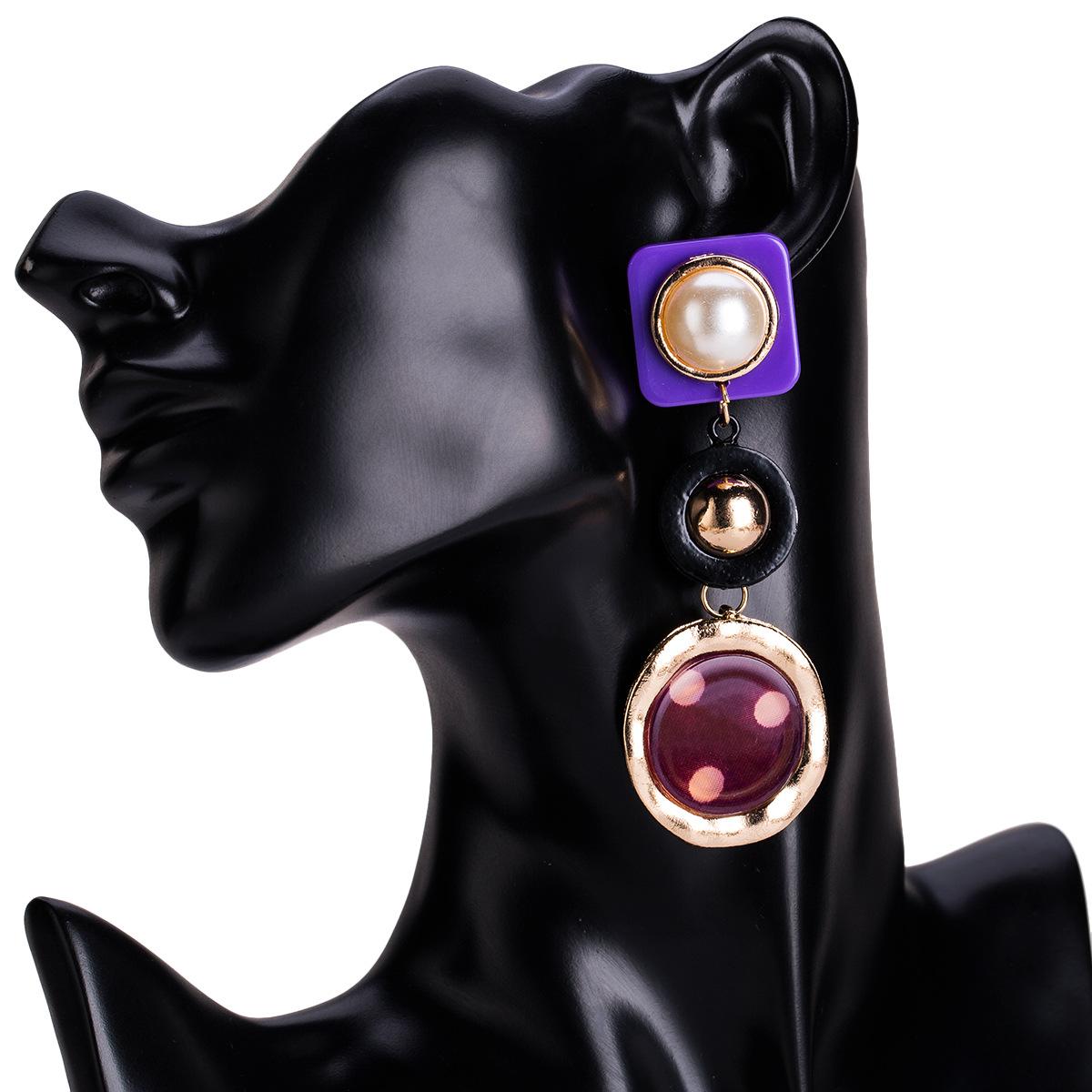 Alloy Fashion Geometric earring(yellow) NHJE1191-yellow