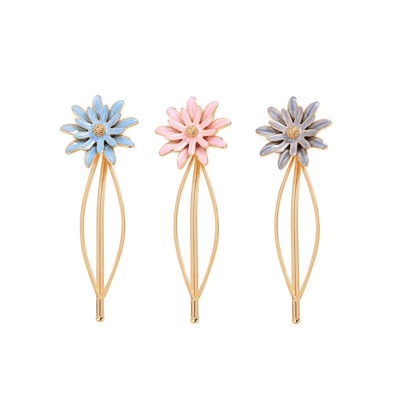 Copper Korea Flowers Hair accessories  (Blue-1) NHQD5583-Blue-1