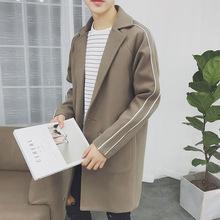 日韩男装外套 港风原创2018新款男士呢大衣潮流风衣外套文艺 男