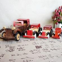 热销木质工艺摆件 木制汽车摆件仿古工艺木制老爷车工艺品摆件