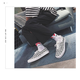 Summer new canvas shoes, graffiti for men, boys' shoes, teenagers' breathable sports shoes, damp shoes, cloth shoes, men's shoes, boys' shoes