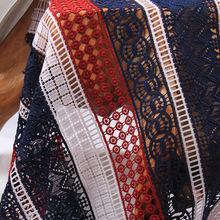 欧美时尚水溶牛奶丝绣花镂空面料刺绣礼服旗袍装饰布辅料现货批发
