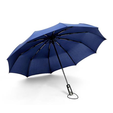 Bán buôn mười xương tự động gấp ô từ mở để đóng ô dù ngoài trời lớn gấp biểu tượng ô kinh doanh tùy chỉnh Ô tự động