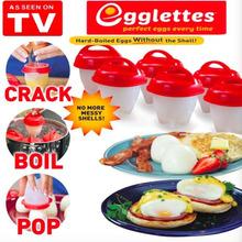 2018TV新品 Egglettes Cooker不粘硅胶鸡蛋杯烹饪煮蛋6件套蒸蛋器