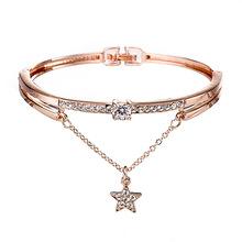 韩版新款手链百搭星星镶钻钛钢手镯清新女士学生手镯手环饰品
