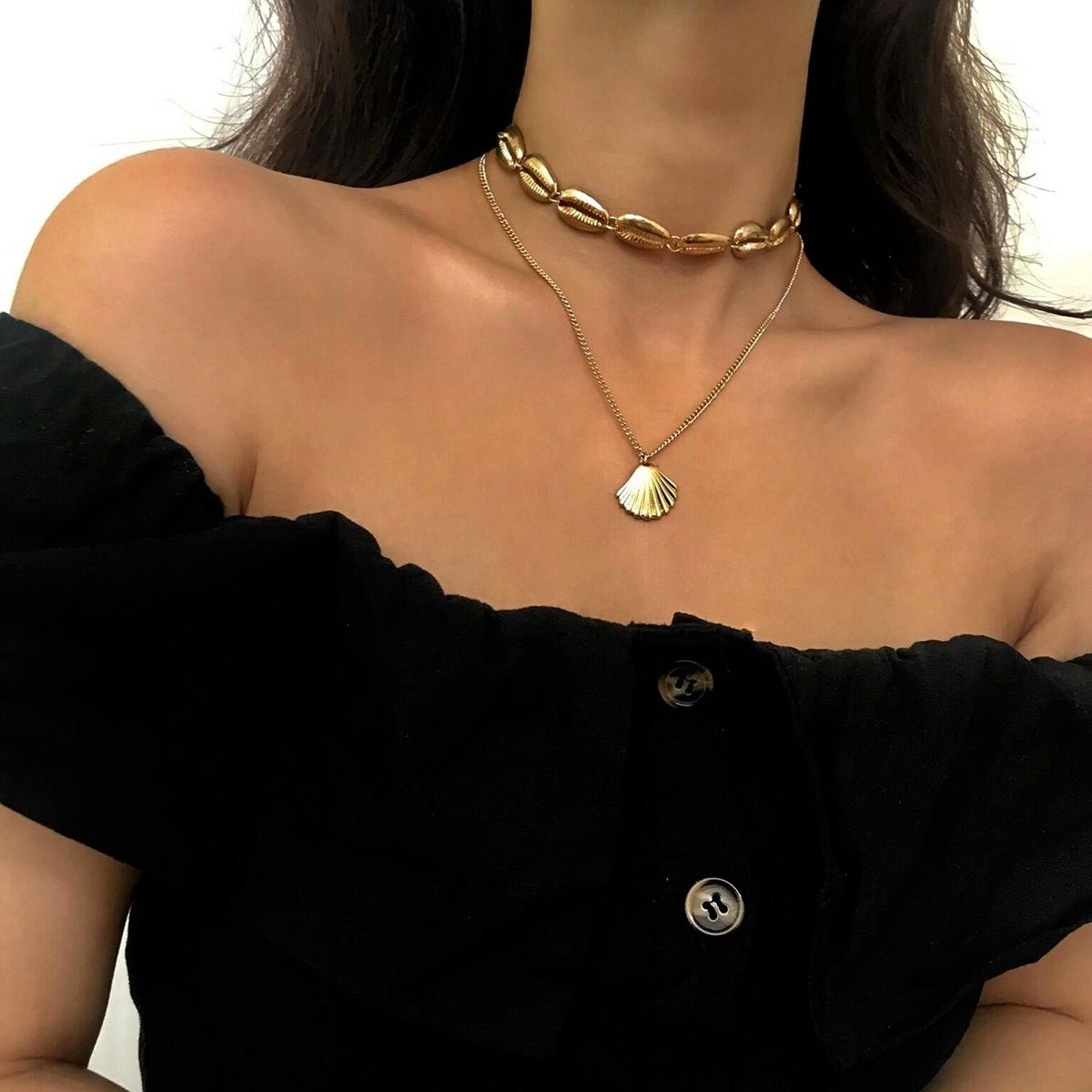 Alloy Simple Geometric necklace  (Alloy 02030) NHXR2532-Alloy-02030