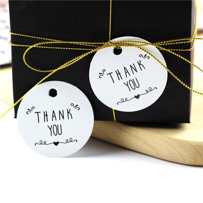 """100片价感谢""""封口贴thank you烘焙包装贴纸饼干袋西点盒装饰吊牌"""