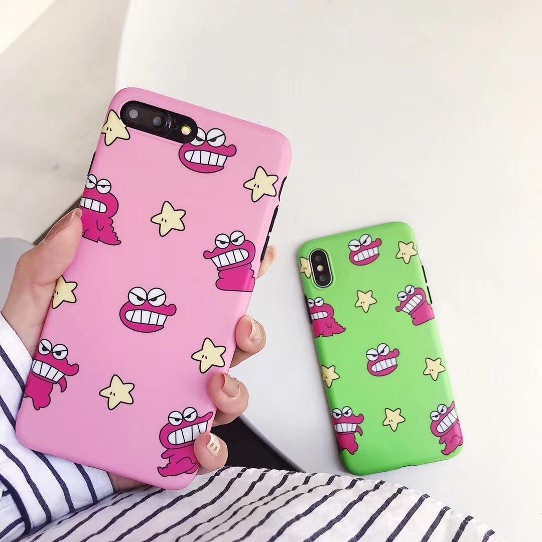 Cute small crocodile dinosaur apple x mobile phone shell iPhone7/8plus/6 creative personality all inclusive anti-fall cute