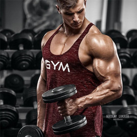 Dr. muscle Brother's New Summer Sports Fitness Leisure Outdoor training trend Men's sleeveless vest