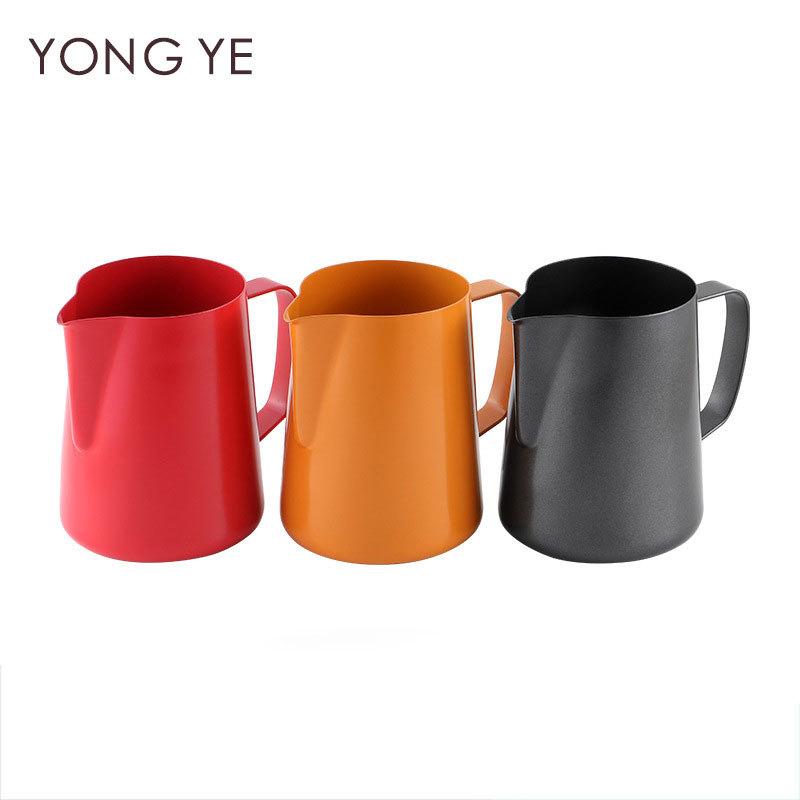 400 مللي طرف ألوان تفلون من الفولاذ المقاوم للصدأ كوب جارلاند قهوة فاخر جارلاند أسطوانة جارلاند وعاء أواني القهوة