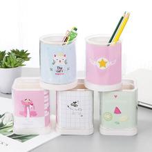 學生筆筒創意時尚小清新可愛卡通桌面擺件兒童多功能用品筆桶批發