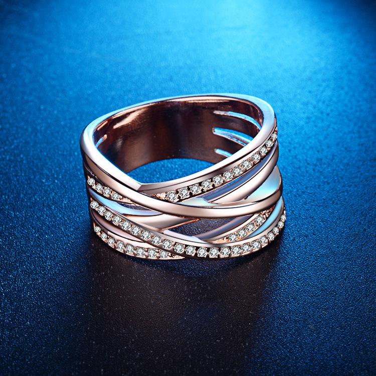 Alloy Fashion Geometric Ring  (FQL01-6) NHQL0001-FQL01-6