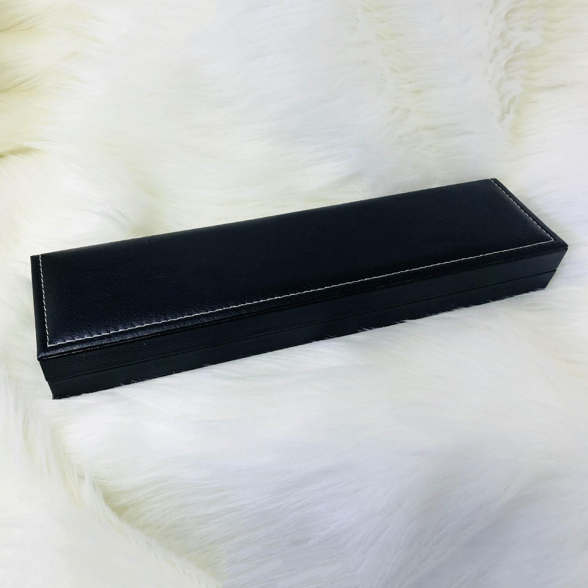 包装厂现货长款皮质绒布手表盒 手表展示盒珠宝首饰收纳盒