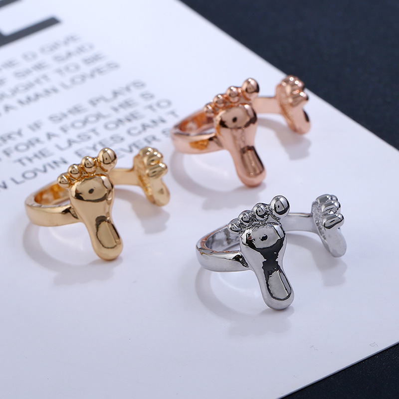 Alloy Korea Animal Ring  (White K) NHKQ1859-White-K