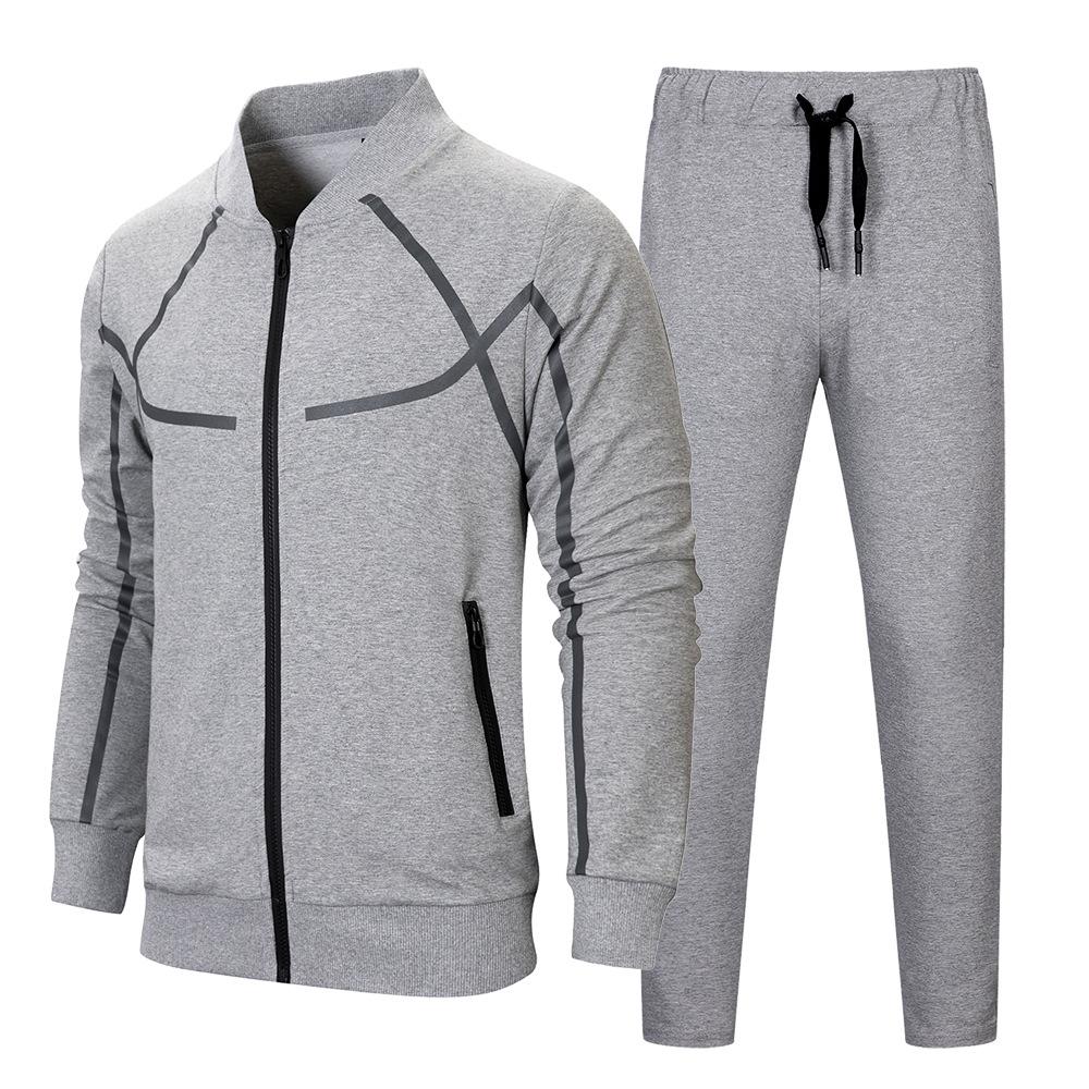 2020 الخريف / الشتاء دعوى الترفيه الأمازون الترفيهية بدلة رياضية وساحات كبيرة البيسبول الملابس القطنية الرجال DIY شعار مخصص
