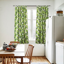 厂家直销北欧风格窗帘印花儿童窗帘美式乡村窗帘跨境麻棉成品窗帘