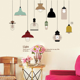 Three generations of removable wall decoration stickers, personalized interesting home decoration bulbs, creative decoration JM7306