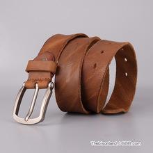 男款水洗带头层牛皮皮带真皮品质保证厂家直销定制批发1186