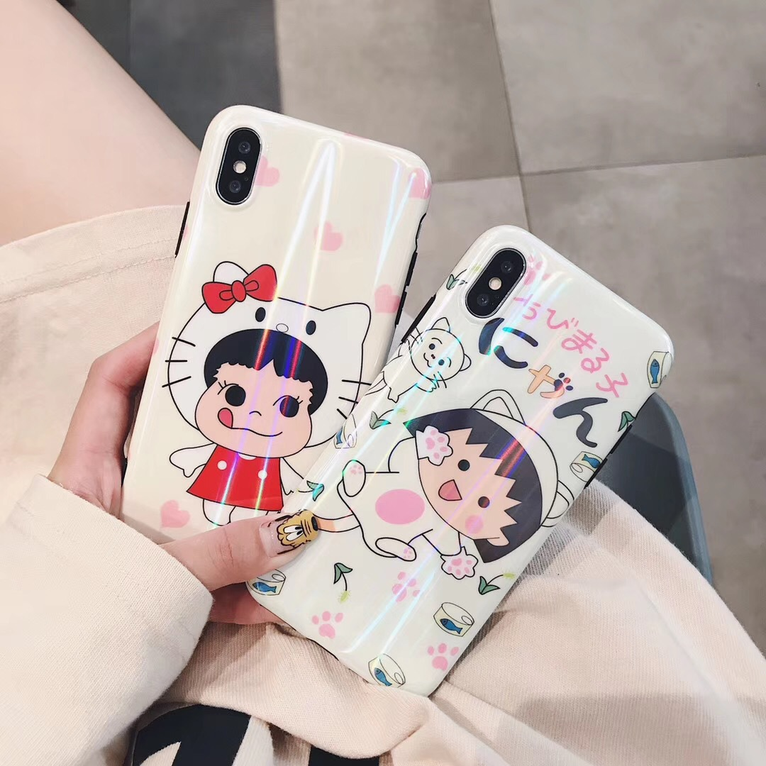 Shaking the same paragraph Small balls iPhoneX/XS Max Mobile Shell Creative Xiaoxin lanyard tpu Apple Cover