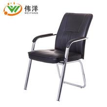 时尚弓形电脑椅 钢架皮面办公椅 老板职员洽谈会议椅东莞工厂直销