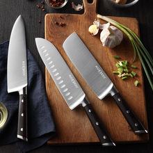 厨刀5CR15钢 8寸西式厨师刀跨境电商多功能巴台刀切片钢头刀