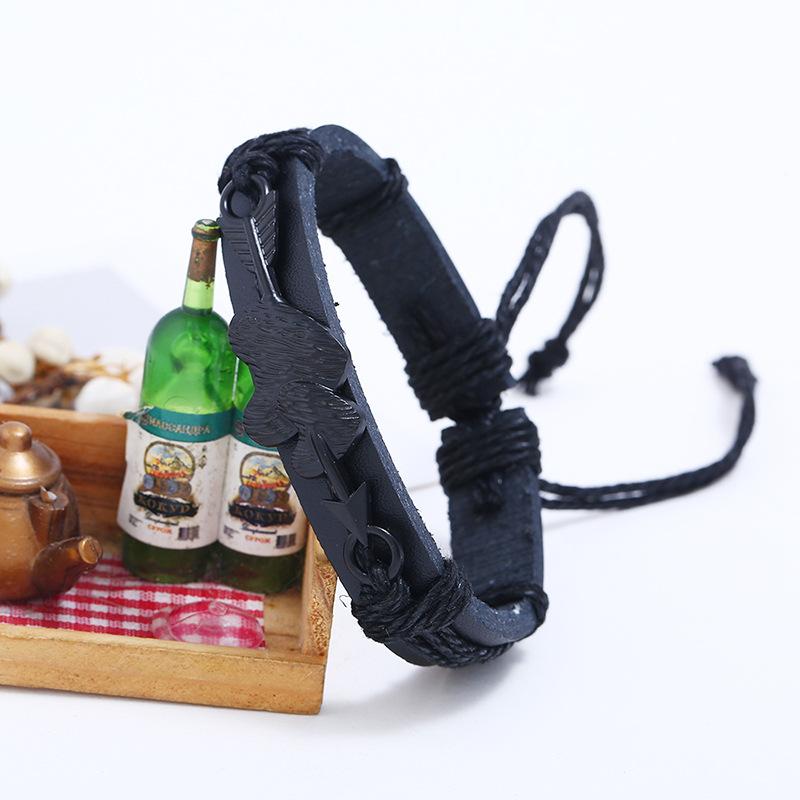 Leather Fashion bolso cesta bracelet  black NHPK2093black