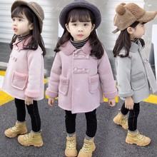 2018冬季新款兒童外套女童寶寶韓版雙排扣麂皮絨羊羔絨加厚外套潮