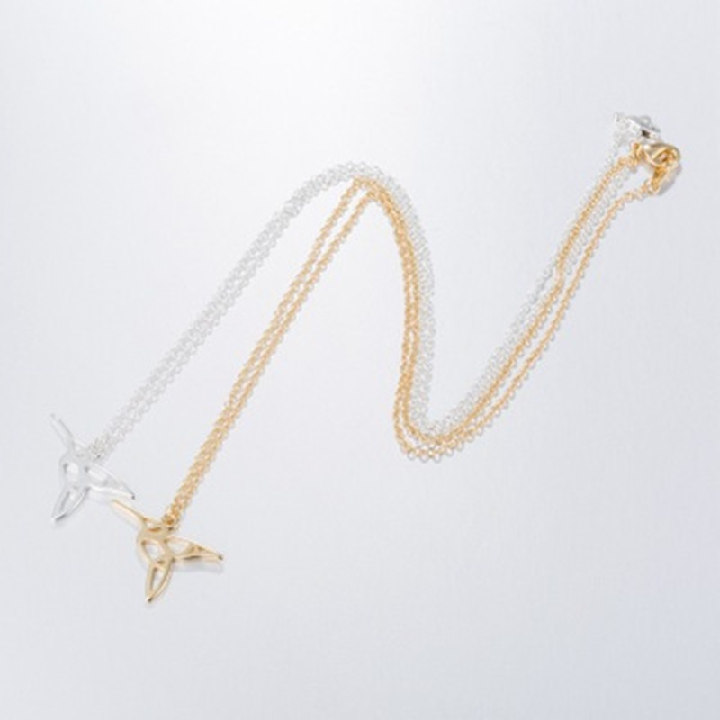 Cute Hollow Bird Necklace Eco-Plating Gold Silver Woodpecker Pendant Necklace NHCU206491