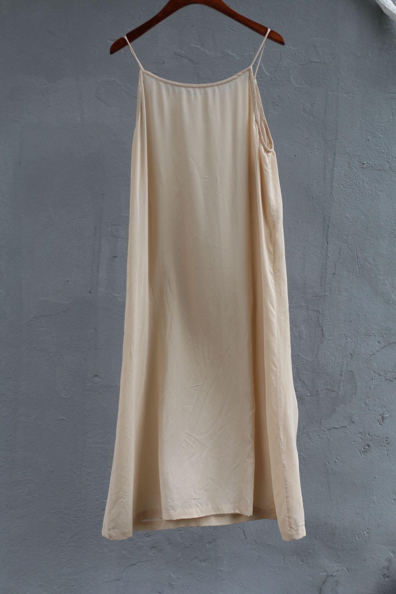有山出品 夏季女三色棉文艺打底背心裙宽松百搭中长吊带裙80711
