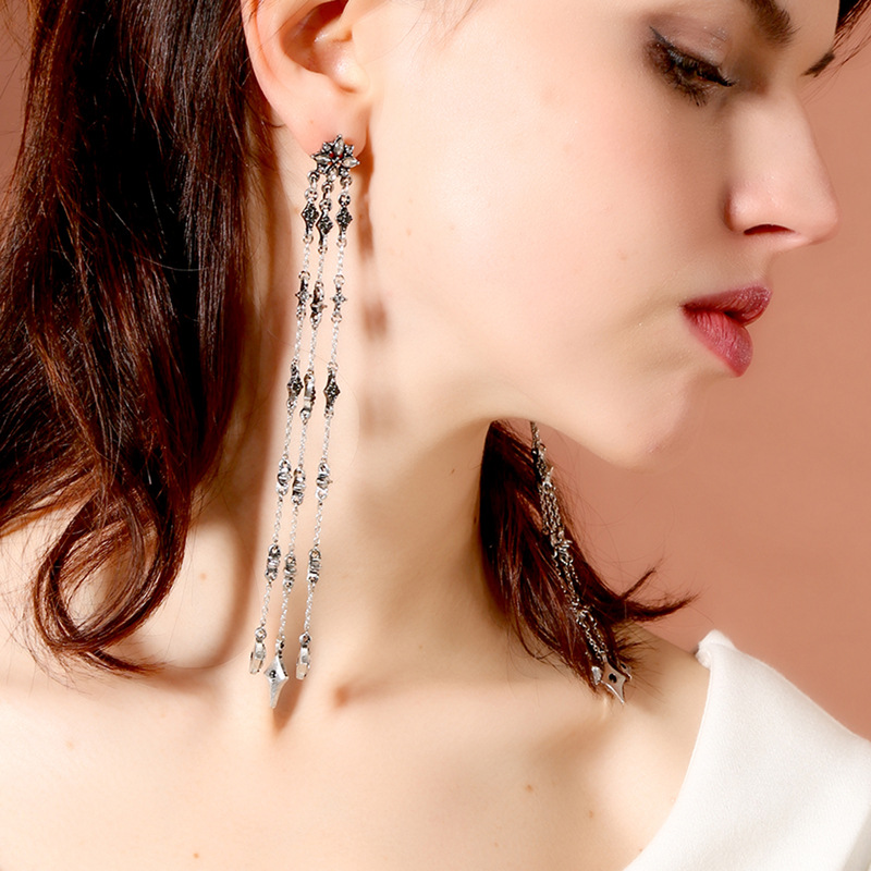 Alloy Fashion Tassel earring(Photo Color) NHQD5136-Photo Color