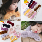 New Rabbit Hair Scarf Ins Wind Cute Baby Tie for Male and Female Babies