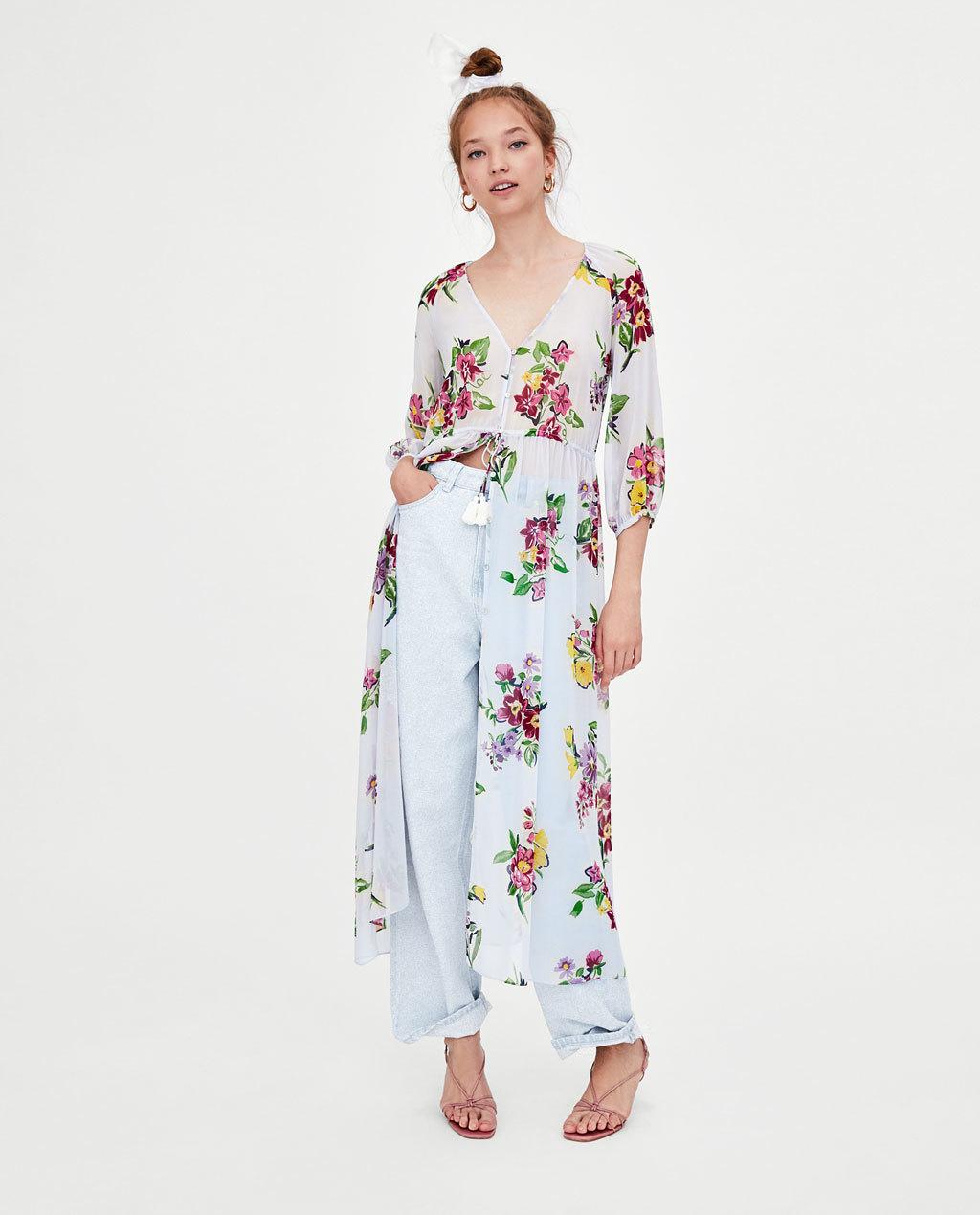 Chiffon Fashionskirt(Picture color -L) NHAM4487-Picture-color-L