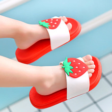 水果凉拖鞋儿童亲子卡通女童沙滩鞋家居防滑浴室拖鞋一字拖男潮