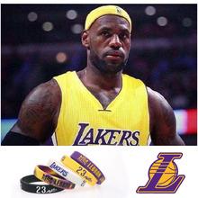 篮球手环nba湖人队詹姆斯23号签名手饰硅胶运动健身腕带跨境批发