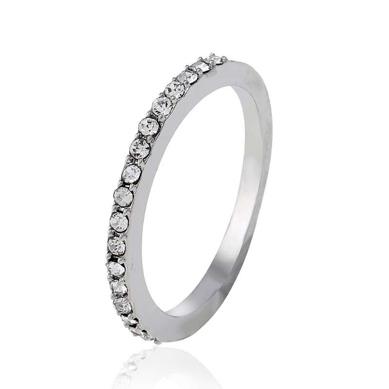 Alloy Fashion Geometric Ring(White K-5) NHNZ0391-White K-5