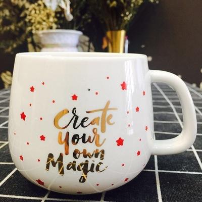 圣诞系列咖啡杯 14盎司陶瓷马克杯414ml 单杯无盖 全印花陶瓷杯