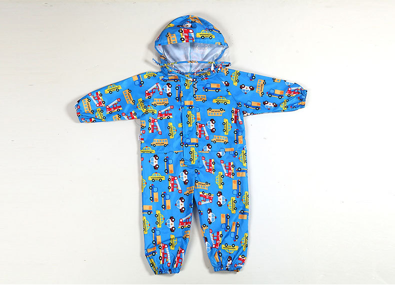 Toddler/Little Kids' cartoon Raincoat for Boys and Girls —— 3 Colors,Hooded,Have Set,One-piece 30