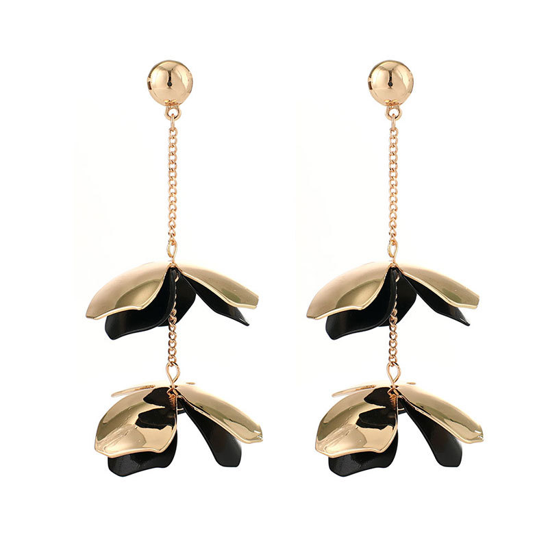 Alloy Fashion Flowers earring  (white) NHNMD4656-white