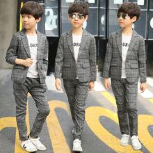 男童西装套装儿童休闲小西服男孩春秋韩版潮秋装童装2021新款批发