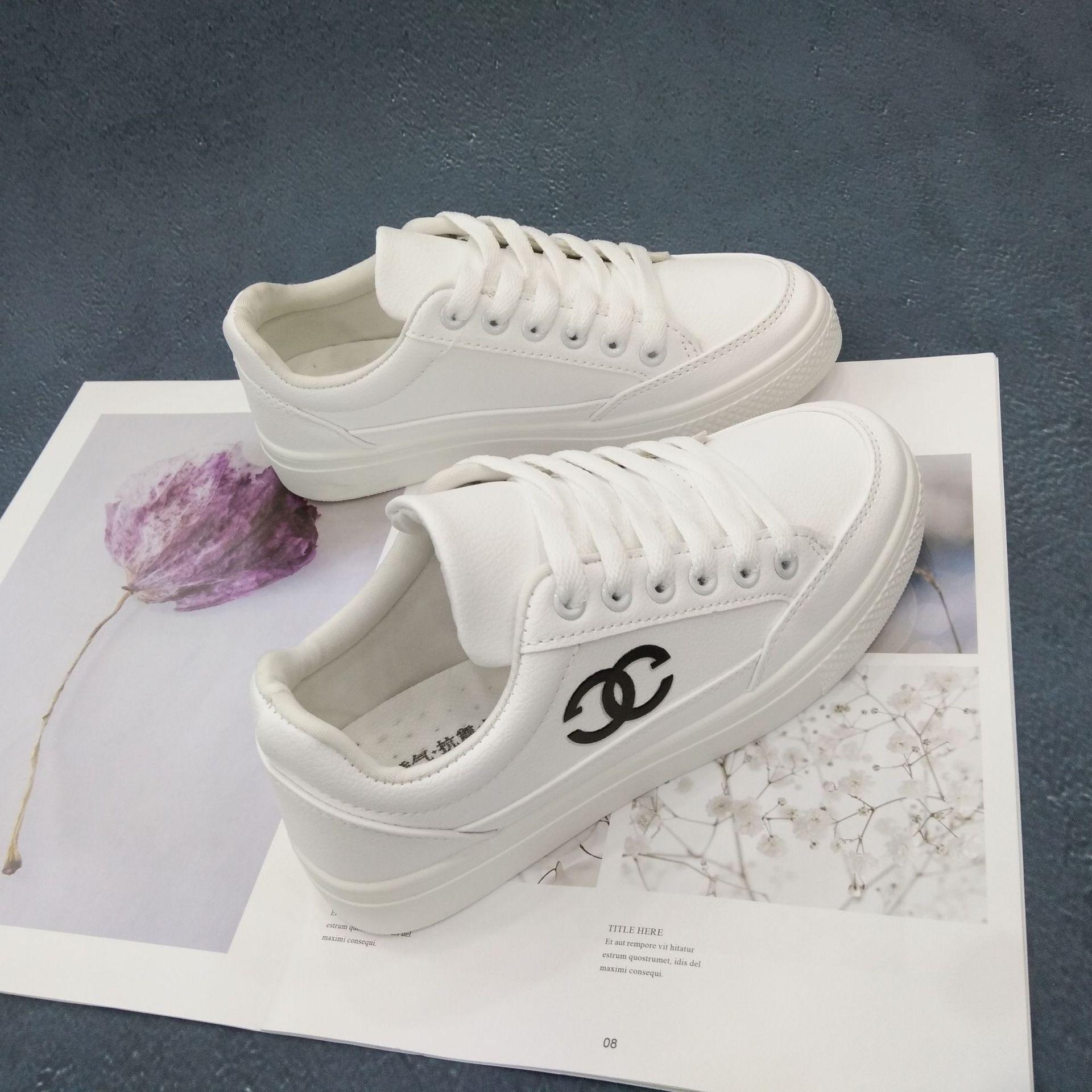 微商F01冬季新款街拍厚底小白鞋女韩版板鞋休闲百搭chic白鞋子