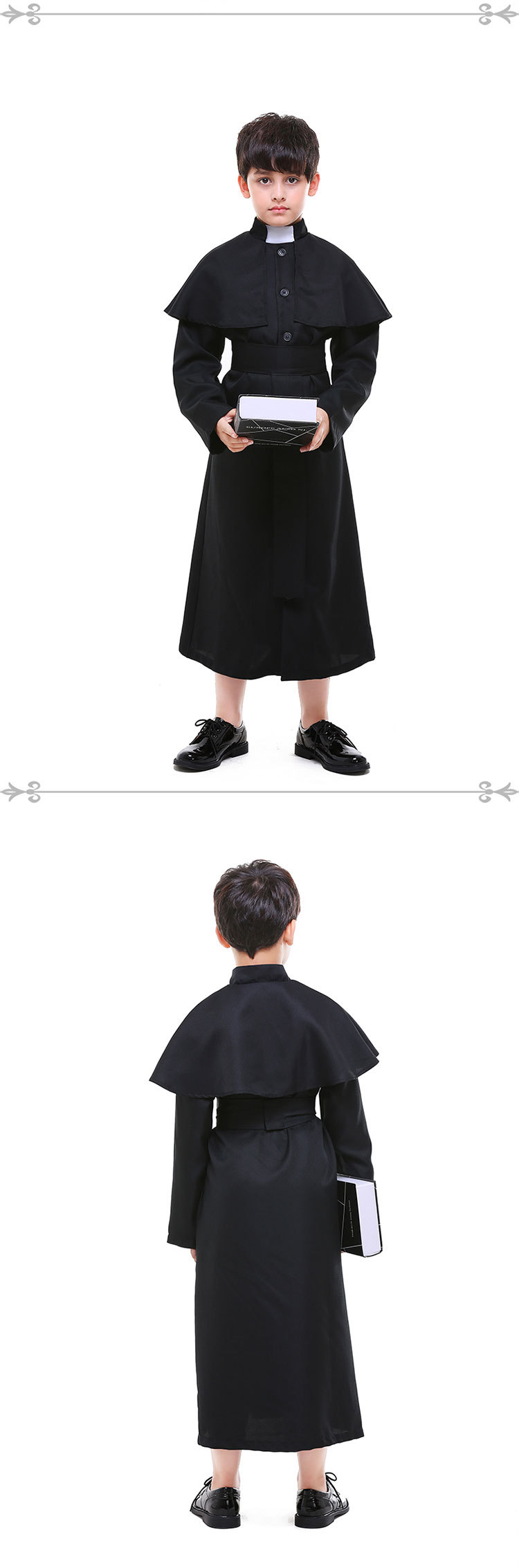 Halloween children cosplay priest costume NHFE155205