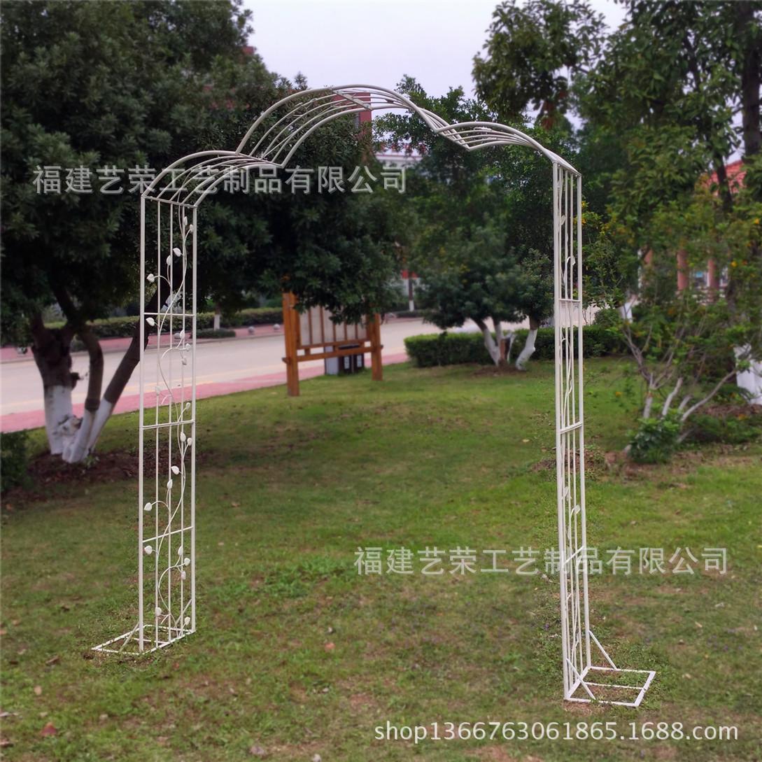 铁艺做旧绿色拱门公园婚庆用品道具拱门花园装饰门户外家具
