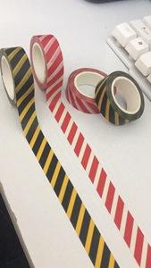 儿童玩具胶带 窄版道路胶带 日本和纸胶带 警戒线胶带