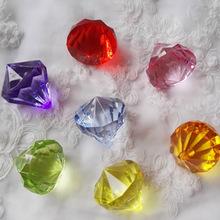 亚克力钻批发透明彩色钻石 水晶钻石带孔钻异形珠 裂纹圆珠